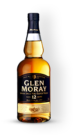Glenn moray 12 year old single malt whiskey product shot